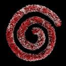 Großhandel Partyartikel: Beflockte Girlande Perlen 100x6x3m b, 2-fach sorti