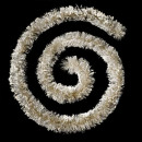 Großhandel Partyartikel: Beflockte Girlande Perlen 100x6x3m g, 3-fach sorti