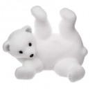 díszítő medve fehér rulett 21cm