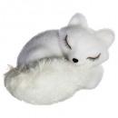 decoration fox asleep long eyelash