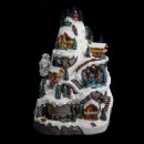 karácsonyi falu hegyi lm / mv / ms, többszínű