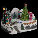 christmas village scene artificial fir light /