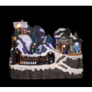 christmas village train 2 plate bright / mv /