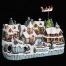 christmas village train + enf + reindeer light / m