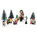 christmas village accessories santon spin + father