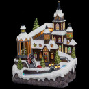 christmas village church + bright river / mv, m