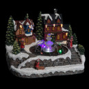 christmas village scene make enf bright / water, m