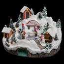 christmas village ice rink chalet lm / mv