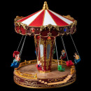 christmas village carousel chairs lm / mv / ms
