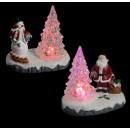 christmas village scene Santa Claus sap cc 2 plate
