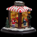 christmas village scene santa claus workshop lm