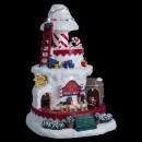 Christmas village reads Santa Claus Champi luminou