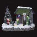 Weihnachtsdorf Santa Claus Bushaltestelle 5l Lum