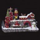 wholesale Toys: christmas village santa claus workshop l75 lm / mv