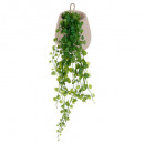 ivy cement pot to suspend, gray
