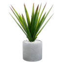 aloe vera artificial pot cerami h48, gray