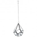 metal vase + vr + rope h23, black