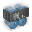 bougie votives bleu 3.8x3.8 x4, bleu