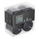 vela votiva negro 3.8x3.8x4, negro