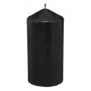 black round candle 6.8x14, black