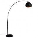 metal floor lamp h175, black