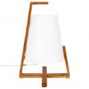 lampe bambou + abj plastique h31, blanc