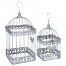bird cage metal niena x2, gray