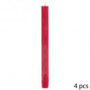 kaars btnx4 rustiek rood h24,5, rood