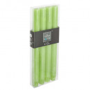 kaars btnx4 rustiek groen h24,5, groen