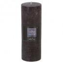 schwarze rustikale runde Kerze 6.7x19, schwarz