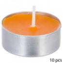 velas perfumadas candelita fr exot thea x10, oro