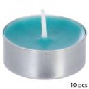 geurende theelicht kaars coco thea x10, blauw