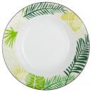 assiette creuse jungle 20cm, multicolore