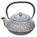 1l white folk teapot