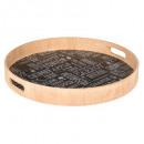 bandeja de madera d40cm v1 negro, negro