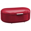rc red metal bread tin, red