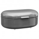 gray metal bread box rc, gray