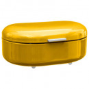 caja de pan de metal amarillo rc, amarillo
