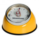 yellow yellow retro magnet timer, yellow