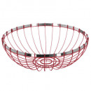 metal basket 30cm red rc, red