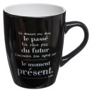 mug ronde citation 30cl, 4-fois assorti, couleurs