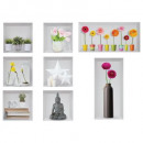 sticker tlo 23x48 etagere, 5- times assorted , mul