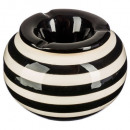 wholesale ashtray: round ceramic ashtray, 4- times assorted , colors