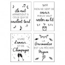 sticker txt 50x70 quote hum, 4- times assorted , n