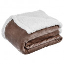 wholesale Home & Living: plaid sherpa taupe 125x150, taupe