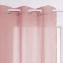 cortina transparente ana rosa claro 140x240, rosa
