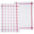 traditionele rode handdoek 45x70 x2, rood