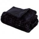 grossiste Coussins & Couvertures: plaid mistinguettenoir 125x150, noir