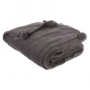 borlas a cuadros gf 125x150, gris oscuro