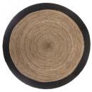 czarny matowy dywan d120, czarny